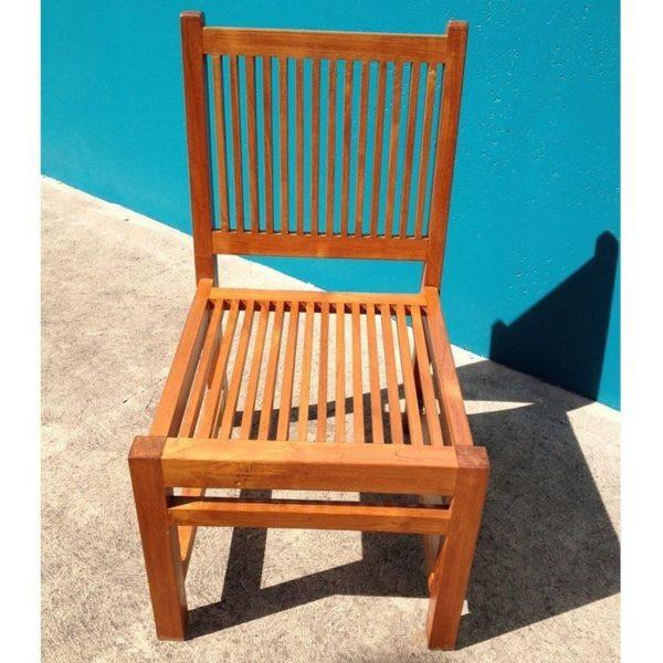 Miraculous Outdoor Furniture Solid Teak Wood Large Chair Machost Co Dining Chair Design Ideas Machostcouk