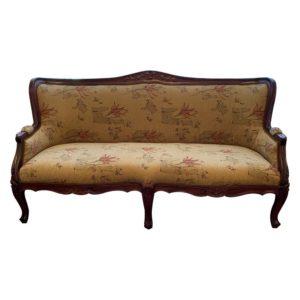 Mahogany 3 Seater Classic Sofa