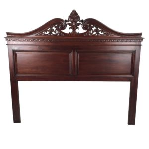 Solid Mahogany Wood Chippendale Bed Head King Size Antique style