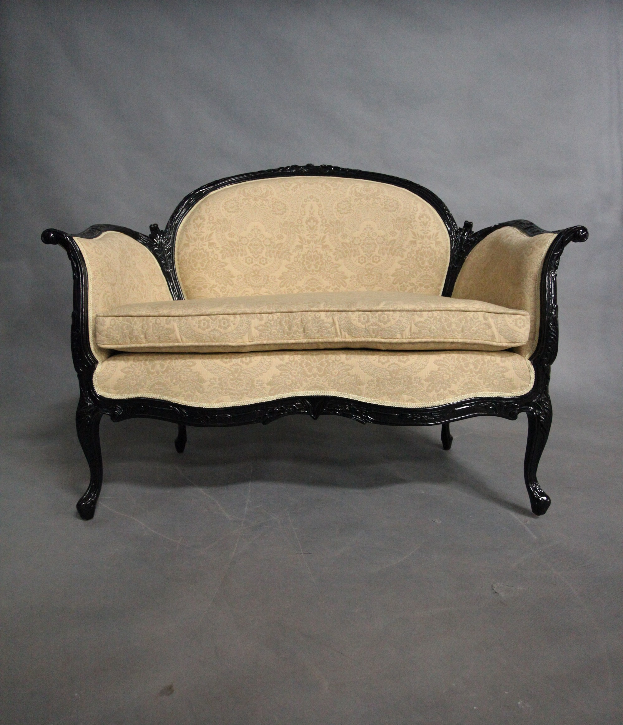 Solid Mahogany Wood Classic large Chaise Lounge / Love Seat
