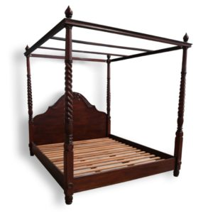 Solid Mahogany Wood Colonial 4 Poster Bed Queen / King size