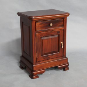 Mahogany Wood 1 drawer Bedside Table
