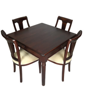 Mahogany Square Dining Table and Chairs 110cm