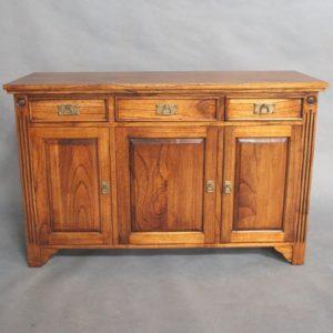 Solid Mahogany Wood 3 Door Buffet
