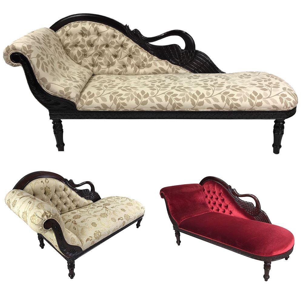 Phenomenal Solid Mahogany Wood Swan Chaise Lounge Love Seat Creativecarmelina Interior Chair Design Creativecarmelinacom